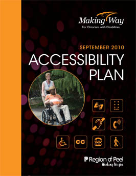 Accessibility Planning Program 2010 Cover