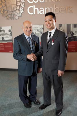 Paul Nguyen and Chair Kolb