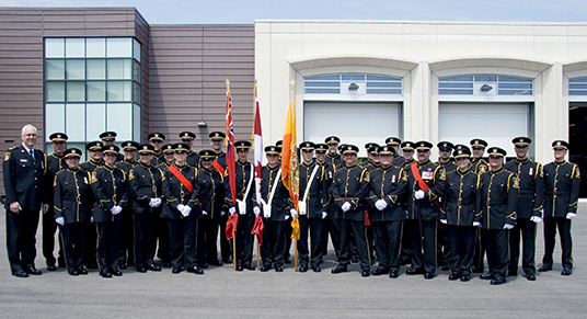 The first-ever Honour Guard for Peel Regional Paramedic Services